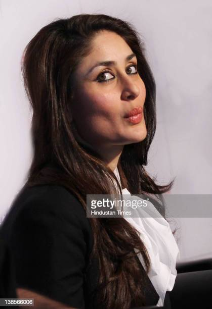 Bollywood Actress Kareena Kapoor during press conference to promote her upcoming film Ek Main Aur Ek Tu with Costar Imran Khan on February 8 2012 in...