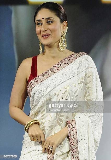 Bollywood actress Kareena Kapoor during the NDTV 'Indian of the Year' Awards on April 15 2013 in New Delhi India Kareena received the 'Entertainer of...