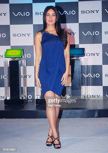 Bollywood actress Kareena Kapoor poses during the unveiling of the Vaio E Series Go Vivid laptops in Mumbai on June 8 2010
