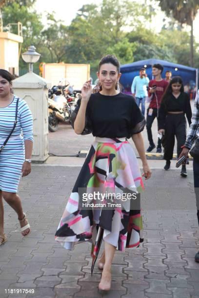 Bollywood actress Karisma Kapoor spotted at Malad on November 4 2019 in Mumbai India