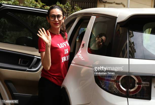 Bollywood actress Karisma Kapoor spotted in Bandra, on May 21, 2019 in Mumbai, India.