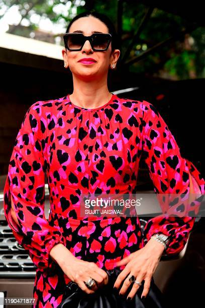 Bollywood actress Kashmira Kapoor arrives for a Christmas brunch in Mumbai on December 25, 2019.