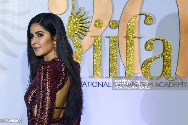 Bollywood actress Katrina Kaif arrives for the IIFA Rocks of the 20th International Indian Film Academy Awards at NSCI Dome in Mumbai on September 16...