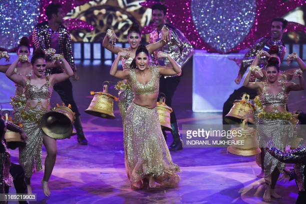 Bollywood actress Katrina Kaif performs on stage during the 20th International Indian Film Academy Awards at NSCI Dome in Mumbai on September 18 2019