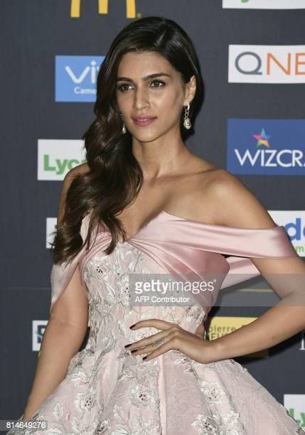 Bollywood Actress Kriti Sanon arrives for IIFA Rocks July 14 2017 at the MetLife Stadium in East Rutherford New Jersey during the 18th International...