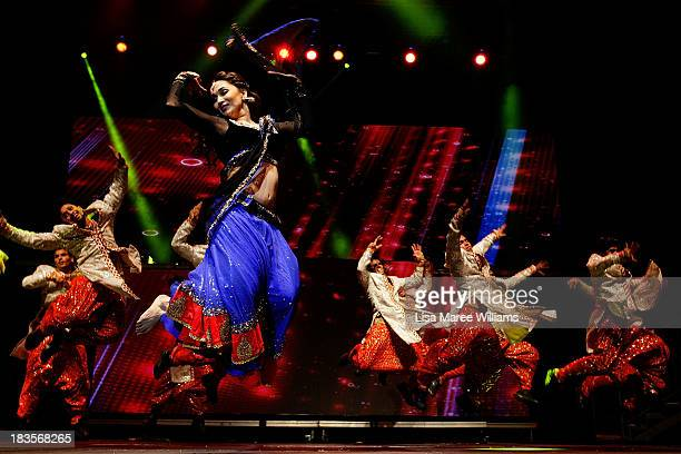 Bollywood actress Madhuri Dixit performs live for fans at Allphones Arena on October 7 2013 in Sydney Australia This performance of 'Temptation...