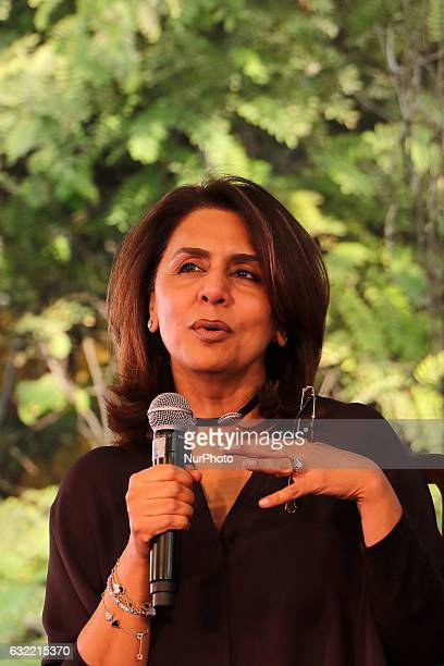 Bollywood actress Neetu Kapoor speaks during the ZEE Jaipur Literature Festival at Diggi Palace in Jaipur Rajasthan India on 20th Jan 2017