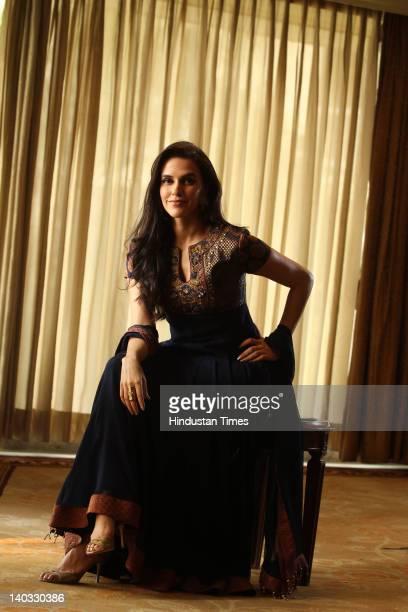 Bollywood Actress Neha Dhupia at the book launch of Mahavastu Handbook at Claridges Hotel on February 24, 2012 in New Delhi, India.