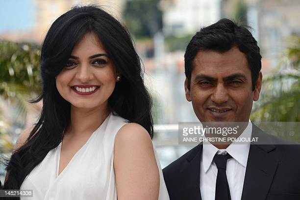 Bollywood actress Niharika Singh and Bollywood actor Nawazuddin Siddiqui pose during the photocall of Miss Lovely presented in the Un Certain Regard...