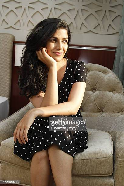 Bollywood Actress Nimrat Kaur posing during an interview with HT city at Hotel Taj Palace on July 16 2014 in New Delhi India