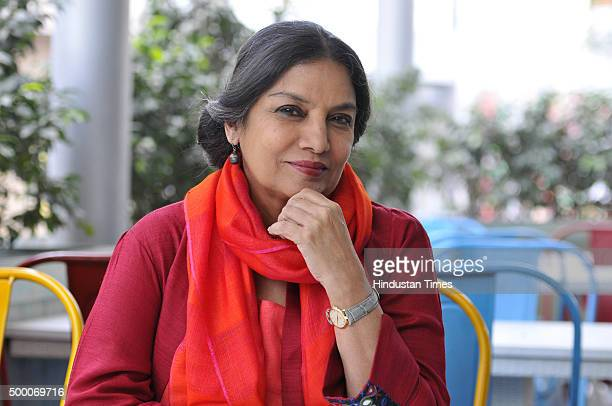Bollywood actress of film television and theatre Shabana Azmi on the second day of the Gurgaon International Film and Literature Festival on December...