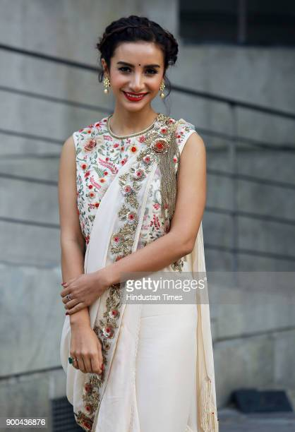 Bollywood actress Patralekha during the promotion of her upcoming web series ' Bose Dead Or Alive' at Taj Palace Hotel on November 15 2017 in New...