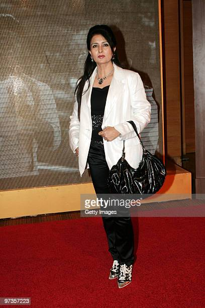 Bollywood actress Poonam Dhillon attends a party hosted by Indian businessman Anil Ambani and his actress wife Tina February 28 2010 in Mumbai