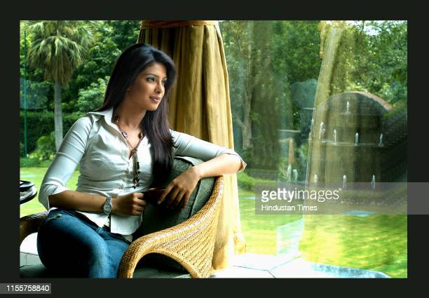 Bollywood actress Priyanka Chopra during a photoshoot on August 1 2007 in New Delhi India