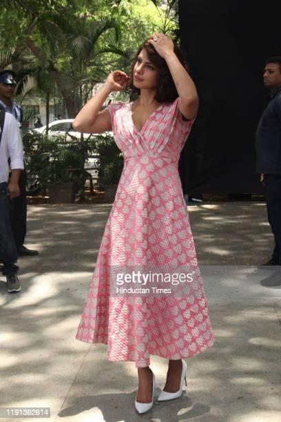 Bollywood actress Priyanka Chopra during the promotion of her upcoming film 'Dil Dhadakne Do' at the Mahalaxmi Race Course, on May 3 in Mumbai, India.