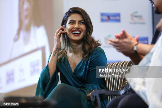 Bollywood actress Priyanka Chopra spotted at a FICCI event on August 6 2018 in New Delhi India