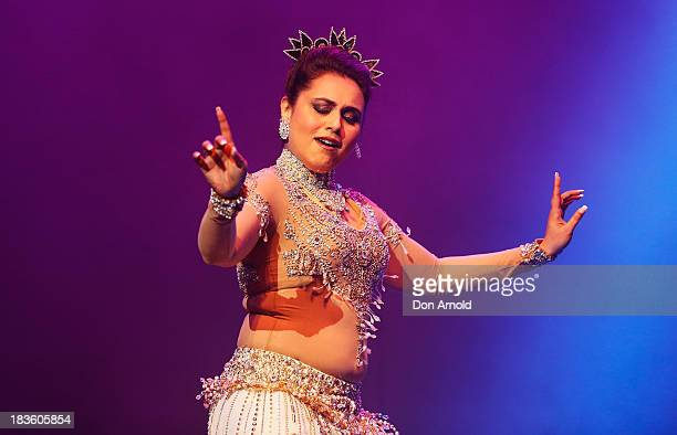 Bollywood actress Rani Mukerji performs live on stage at Allphones Arena on October 7 2013 in Sydney Australia This performance of 'Temptation...
