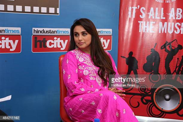 Bollywood actress Rani Mukerji poses for profile shoot during an interview at HT Media House on August 22 2014 in New Delhi India
