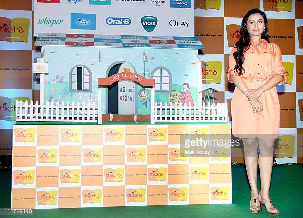 Bollywood actress Rani Mukherjee during the promotion of the PG's Shiksha programme which helps underprivileged children for their education at...