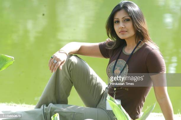 Bollywood actress Rimi Sen poses during her profile shoot, on October 9, 2007 in New Delhi, India.