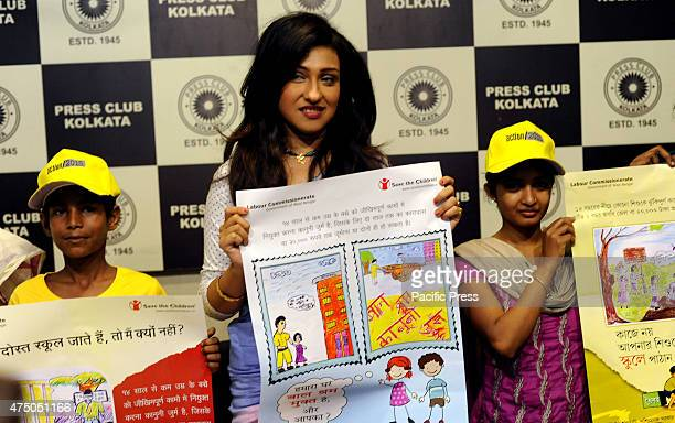 Bollywood Actress Rituparna Sengupta during the launching of posters on 'Antichild Labor Campaign' organised by the Save the Children and Wada Na...