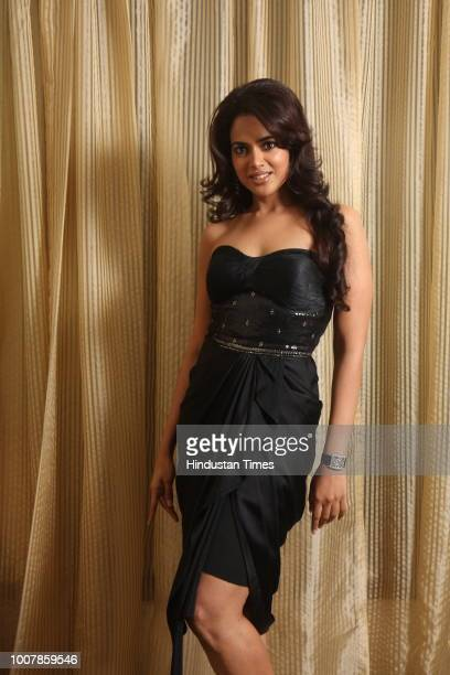 Bollywood actress Samira Reddy poses for a profile shoot on July 25 2008 in New Delhi India