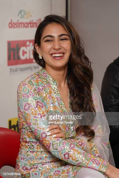 Bollywood actress Sara Ali Khan during an exclusive interview with HT CityHindustan Times for the promotion of her upcoming movie Kedarnath' at HT...