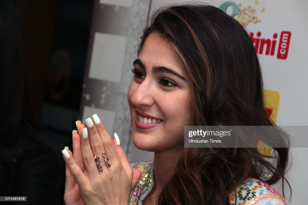 HT Exclusive: Actors Sara Ali Khan and Sushant Singh Rajput Promote Upcoming Movie Kedarnath'  At HT Media office : News Photo