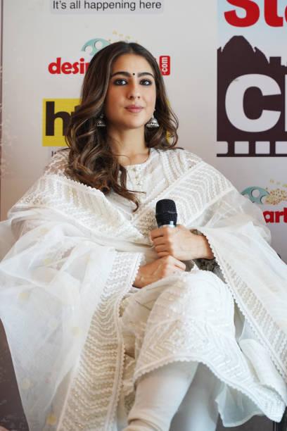 IND: Starcast Of  'Love Aaj Kal' Visits HT Office For Promotion