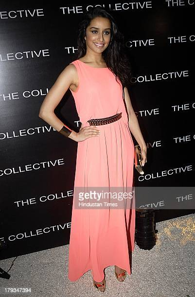 Bollywood actress Shraddha Kapoor during the launch of Style Coffee Table book on August 31 2013 in Mumbai India