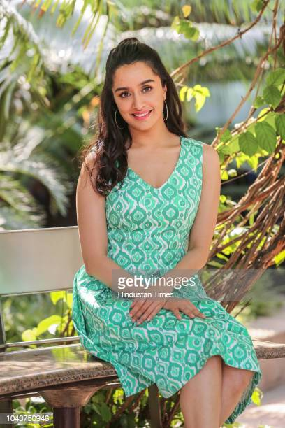 Bollywood actress Shraddha Kapoor poses for a profile shoot during promotion of upcoming film Batti Gul Meter Chalu on September 15 2018 in New Delhi...