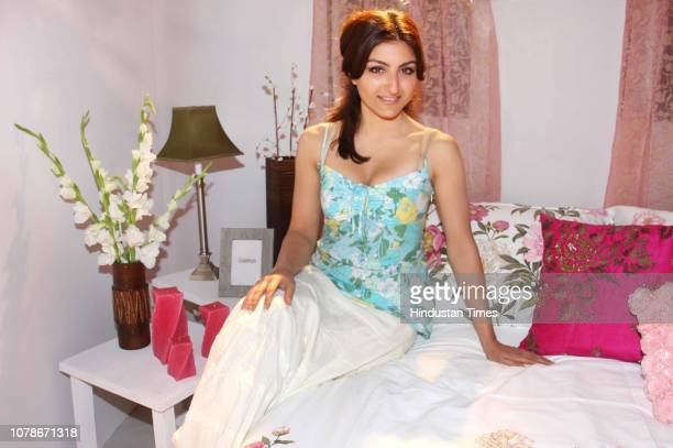 Bollywood actress Soha Ali Khan poses during her profile shoot for HT City on October 8 2008 in New Delhi India