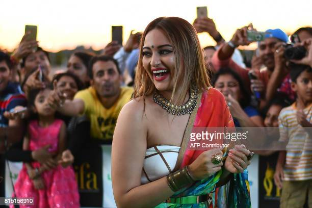 Bollywood actress Sonakshi Sinha arrives for the IIFA Awards of the 18th International Indian Film Academy Festival at the MetLife Stadium in East...