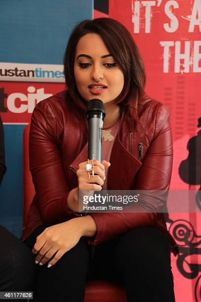 Bollywood actress Sonakshi Sinha during an exclusive interview for her upcoming movie Tevar at HT Media Office on January 05 New Delhi India