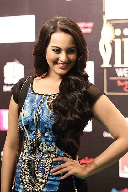 Bollywood actress Sonakshi Sinha poses on the green carpet during the IIFA Rocks Green Carpet on day two of the 2012 International India Film Academy.