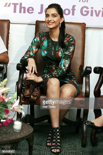 Bollywood actress Sonam Kapoor at the launch of NGO Khushii's new campaign in New Delhi on Saturday, September 5, 2009.