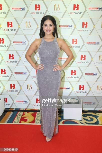 Bollywood actress Sunny Leone spotted at an event, on February 20, 2020 in Mumbai, India.