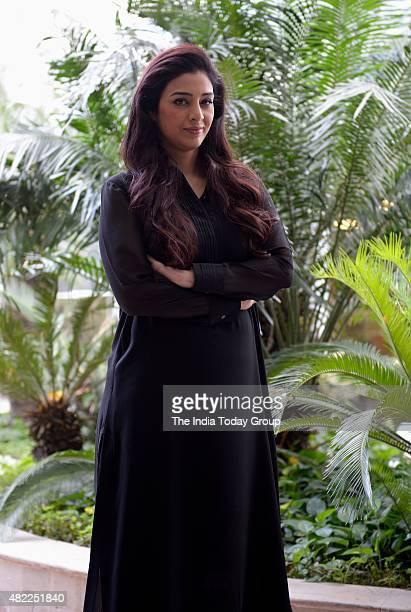 Bollywood Actress Tabu during Promotion of her upcoming Movie Drishyam at New Delhi