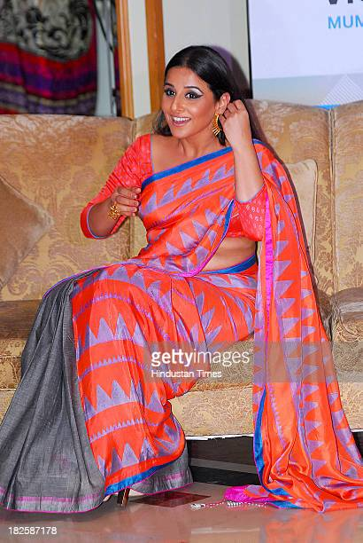 Bollywood actress Vidya Balan announces the Indian Film Festival of Melbourne during a press conference on September 26 2013 in Mumbai India