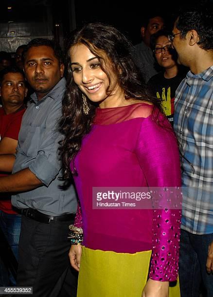 Bollywood actress Vidya Balan at a musical event at Blue Frog Lower Parel on September 11 2014 in Mumbai India