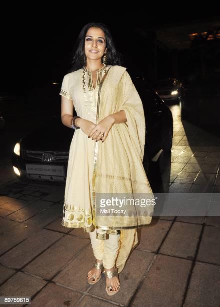 Bollywood Actress Vidya Balan at the 25th Wedding Anniversary of Ramesh Taurani
