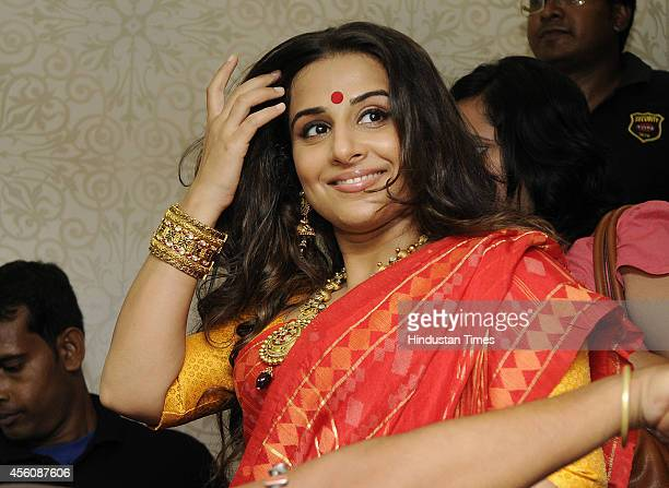 Bollywood actress Vidya Balan durig the inauguration of the PC Jewellers Showroom on September 25 2014 in Kolkata India