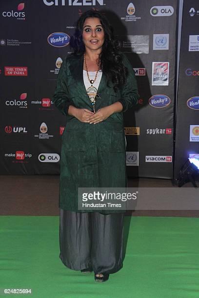 Bollywood actress Vidya Balan during Global Citizen India concert at BKC on November 19 2016 in Mumbai India
