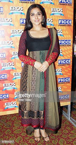 Bollywood actress Vidya Balan during the FICCI Frames 2010 a Media and Entertainment Industry Conference in Mumbai on Thursday