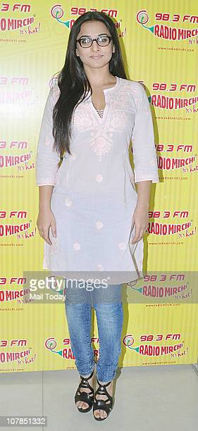 Bollywood actress Vidya Balan during the promotional event of her upcoming film 'No One Killed Jessica' at Radio Mirchi 983 FM Studio in Mumbai