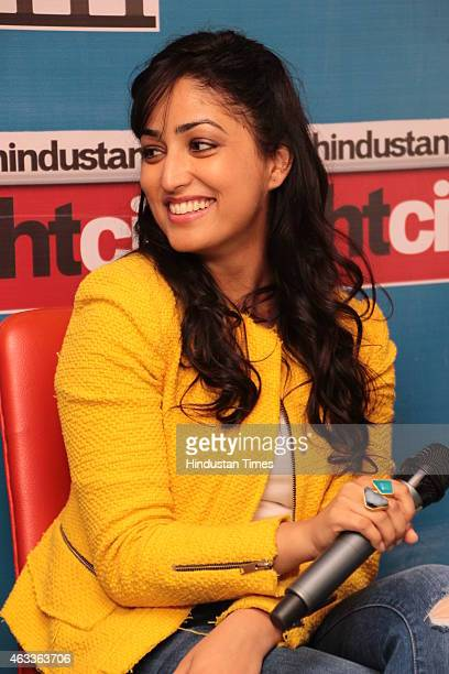 Bollywood actress Yami Gautam during an exclusive interview for her upcoming movie Badlapur at HT Media Office on February 2 New Delhi India