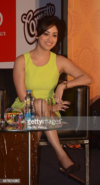 Bollywood actress Yami Gautam during Cornetto Ice cream festival in Kolkata