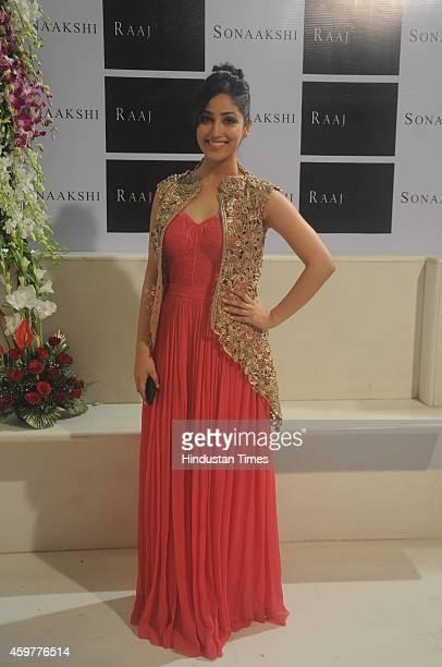 Bollywood actress Yami Gautam during Sonaakshi Raaj store launch at Bandra on November 20 2014in Mumbai India