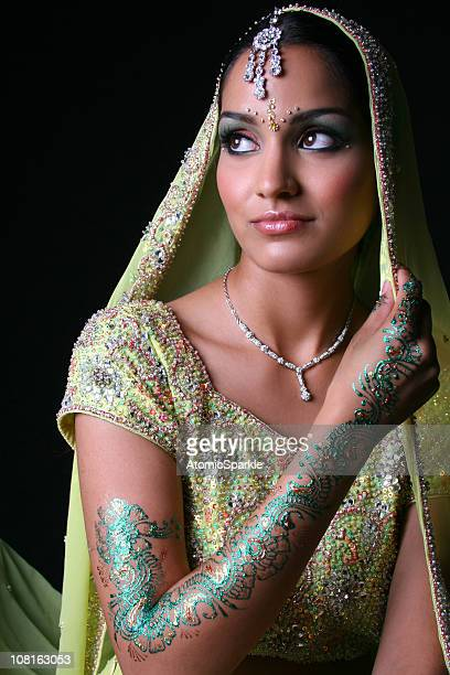 bollywood bride - indian bride stock photos and pictures