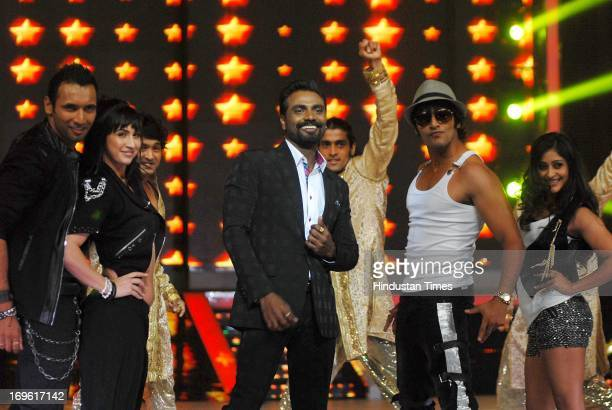 Bollywood choreographer Remo D'Souza with the Contestants during the first look of the dance reality show Jhalak Dikhla Jaa Season 6 at Filmistan...